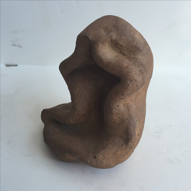Terracotta Free-Form Sculpture - Image 6 of 9