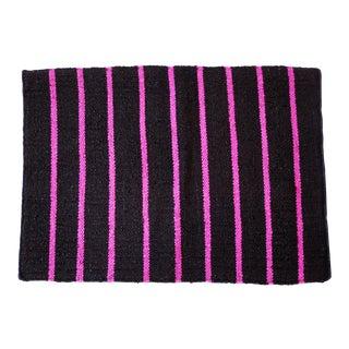 """Aelfie Jute Black & Pink Stripe Rug - 2'3"""" X 3'3"""""""