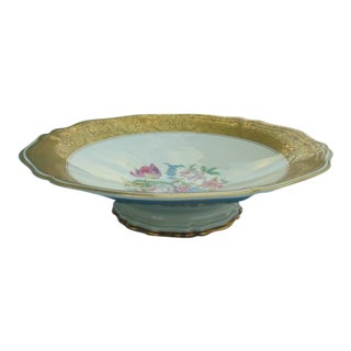 Rosenthal Chippendale Gold-Gild Rim Floral Candy & Cake Dish