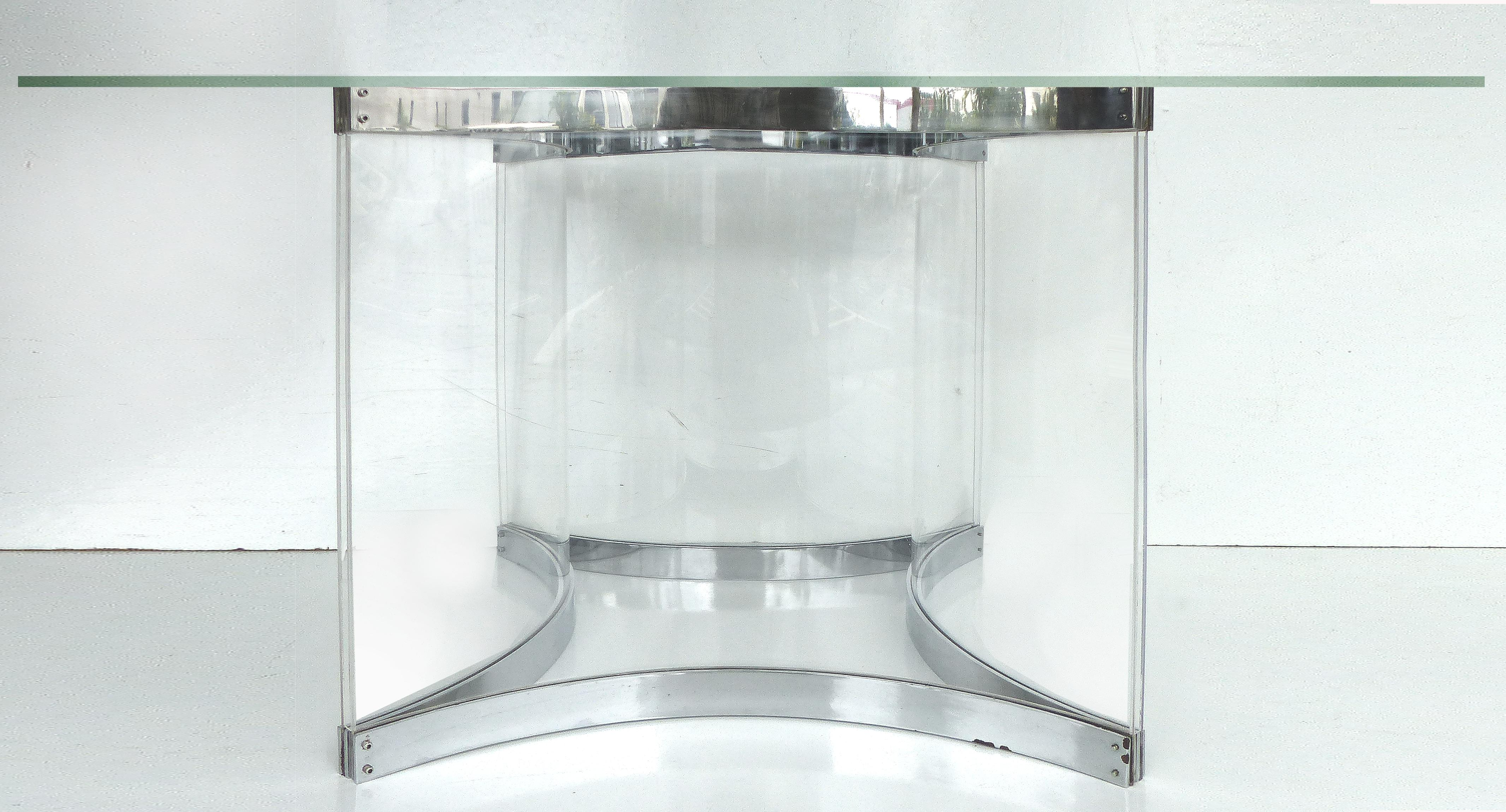Alessandro Albrizzi Chrome U0026 Lucite Dining Table Base   Image 4 Of 10