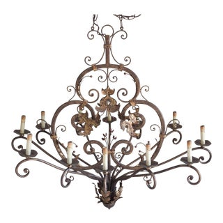 12-Light Wrought Iron Chandelier