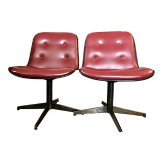 Charles Pollock Style Mid-Century Side Chairs - A Pair
