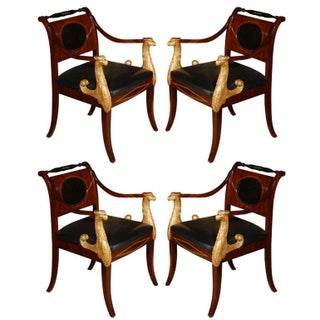 Suite of Parcel Gilt, Russian, Empire Chairs