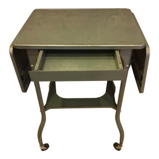 Metal Drop Leaf Industrial Table