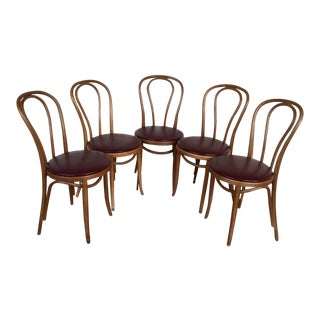 Thonet Bentwood Vienna Cafe Chairs - Set of 5