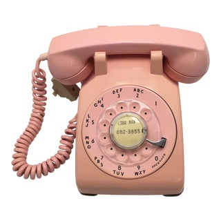 1962 Vintage Pink Rotary Dial Telephone