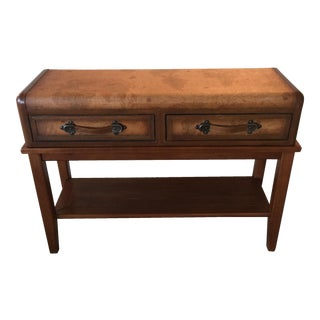 Vintage Leather Console Table