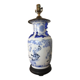 Chapman Blue and White Chinese Styled Lamp