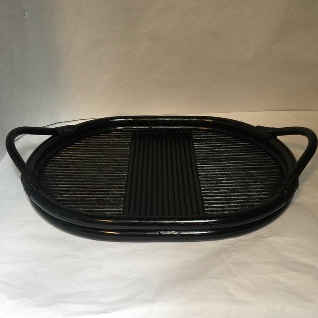 Image of Deco Black Rattan Tray