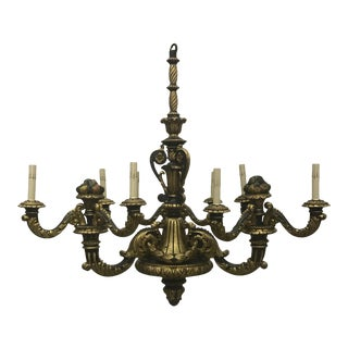 Italian Carved Wood and Gilt Chandelier