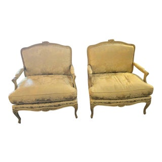 Louis XV Style Lounge Chairs by Maison Jansen - a Pair