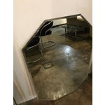 Image of Mid-Century Modern Hexagon Geometric Beveled Mirror