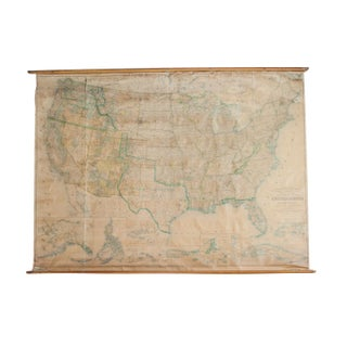 Oversize Pull Down Map of USA