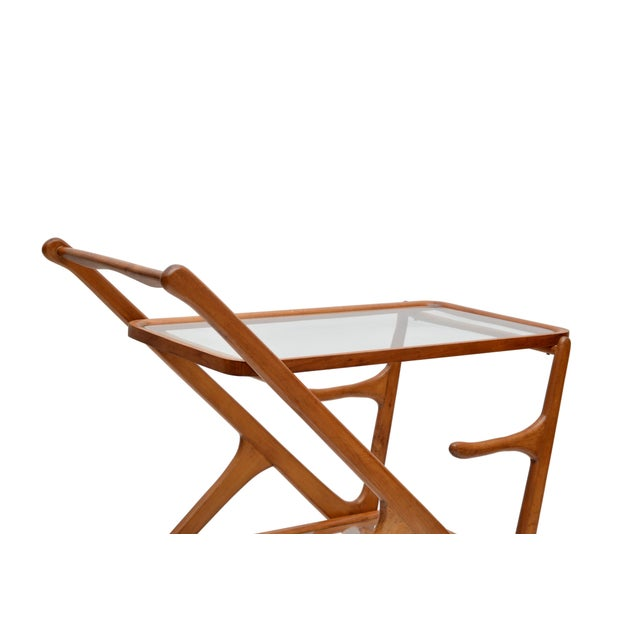 Cesare Lacca Wooden Bar Cart for Cassina, Italy - Image 5 of 8
