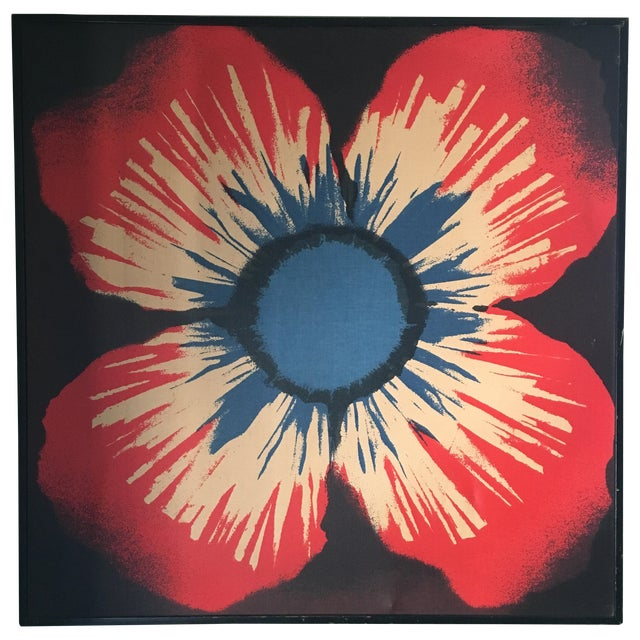 Original Tom Tru Vintage Poppy Sreen Print - Image 1 of 9