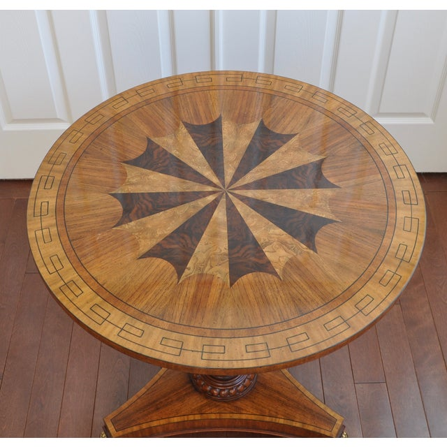 Maitland Smith Inlaid Occasional Table - Image 3 of 6