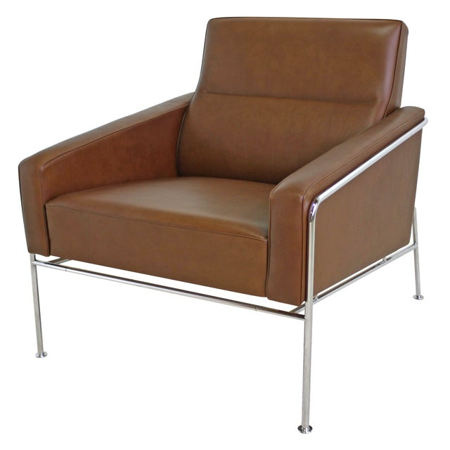 Fritz Hansen Leather Lounge Chair - 6 Avail. - Image 1 of 7