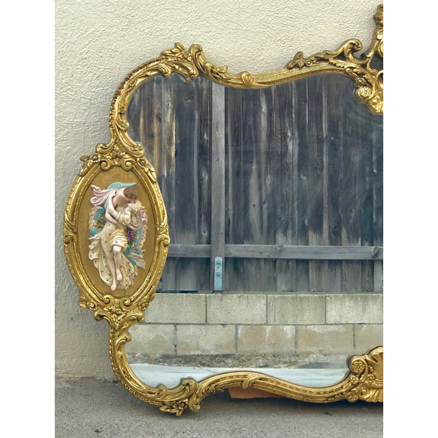 Antique Italian Baroque Gold Gilded Mirror - Image 3 of 11