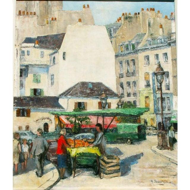 Paris Street Market, Oil Painting - Image 3 of 4
