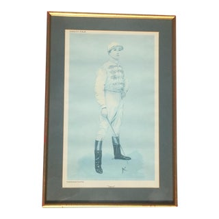 Framed Vintage Vanity Fair Polo Player Caricature Print