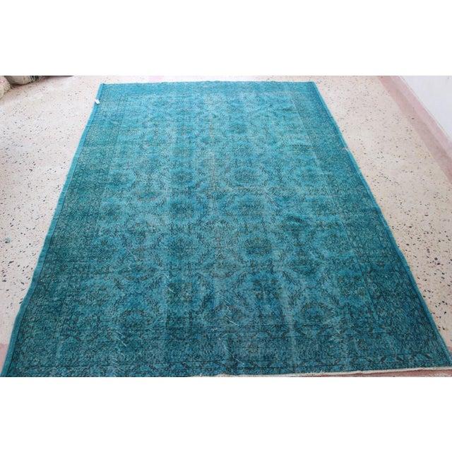 Turquoise Overdyed Rug - 6'7'' x 10' - Image 2 of 7