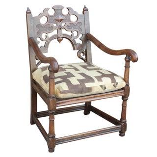 Jacobean Oak English Club Chair