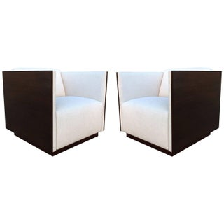 Cube Club Chairs by Milo Baughman - Pair