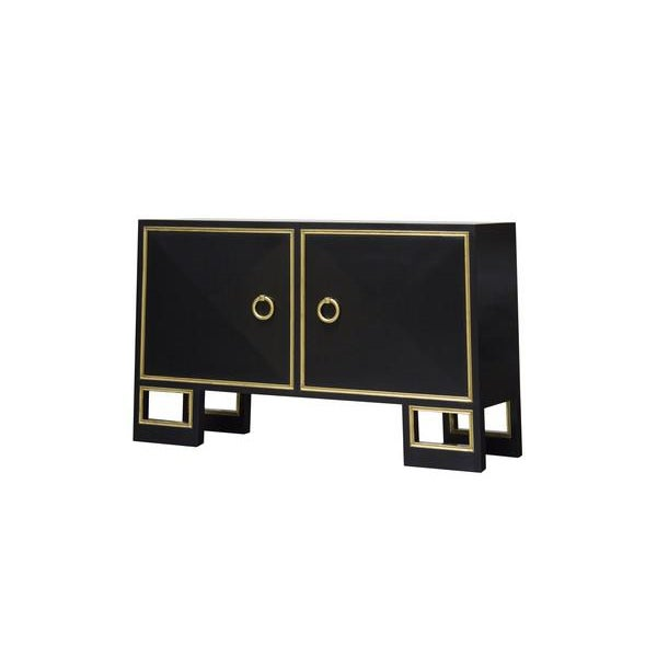 """Truex American Furniture """"St. Regis """" High Gloss Lacquered Cabinet - Image 2 of 3"""