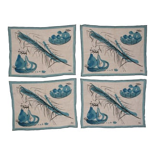 Vera Neumann Linen Placemats - Set of 4
