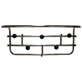 Mid-Century Modern French Chrome Coat and Hat Rack
