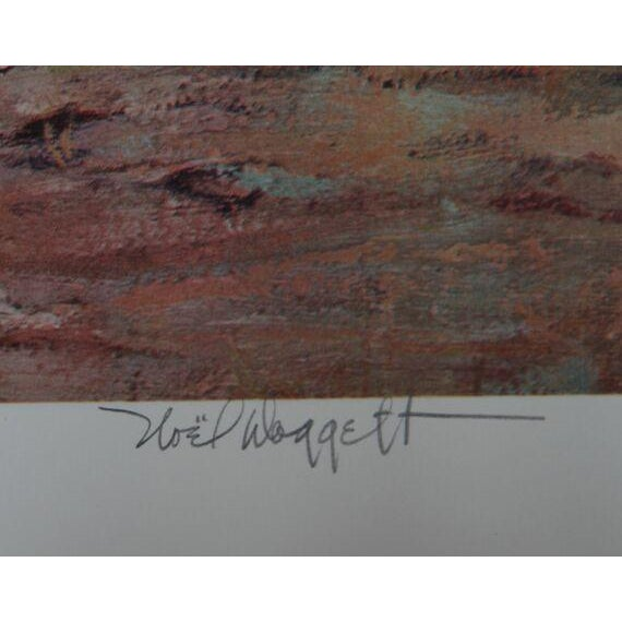 "Noel Daggett, ""A Last Look Back,"" Lithograph - Image 2 of 2"