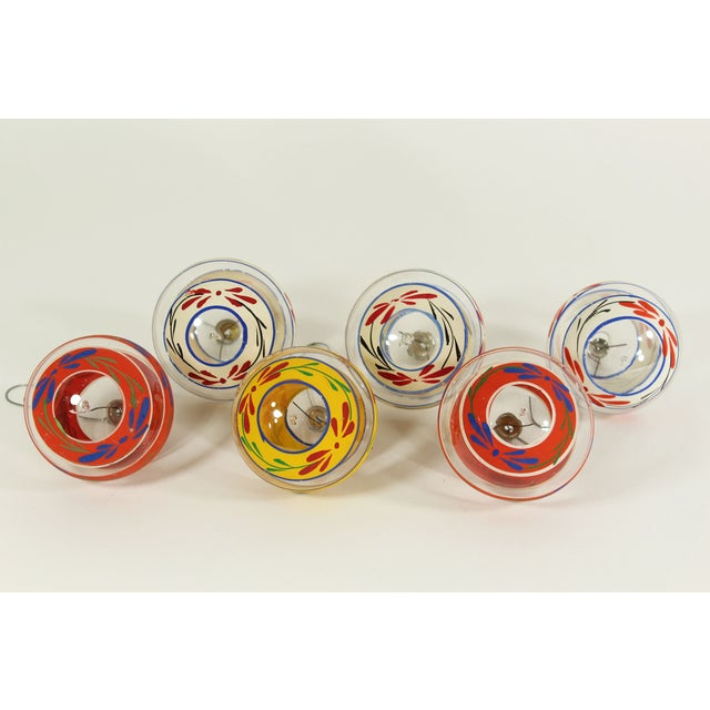Image of Vintage Glass Christmas Ornaments (Set of 6)