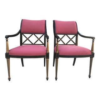 Dorothy Draper by Henredon Regency Chairs - A Pair