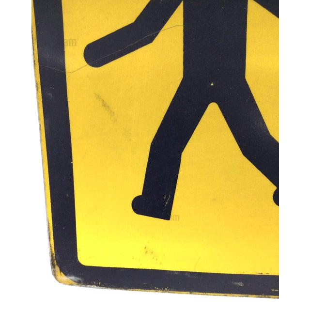 Image of Yellow Neon Square Street Sign, France School Zone