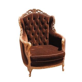 Vintage Mohair Velvet Chair