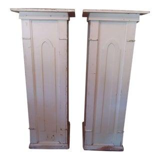 Monumental Gothic Columns - A Pair