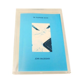 John Baldessari Telephone Book Signed 1988 1st Ed.
