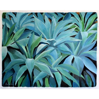 """Meditation on a Grove of Agaves"" Acrylic Painting"