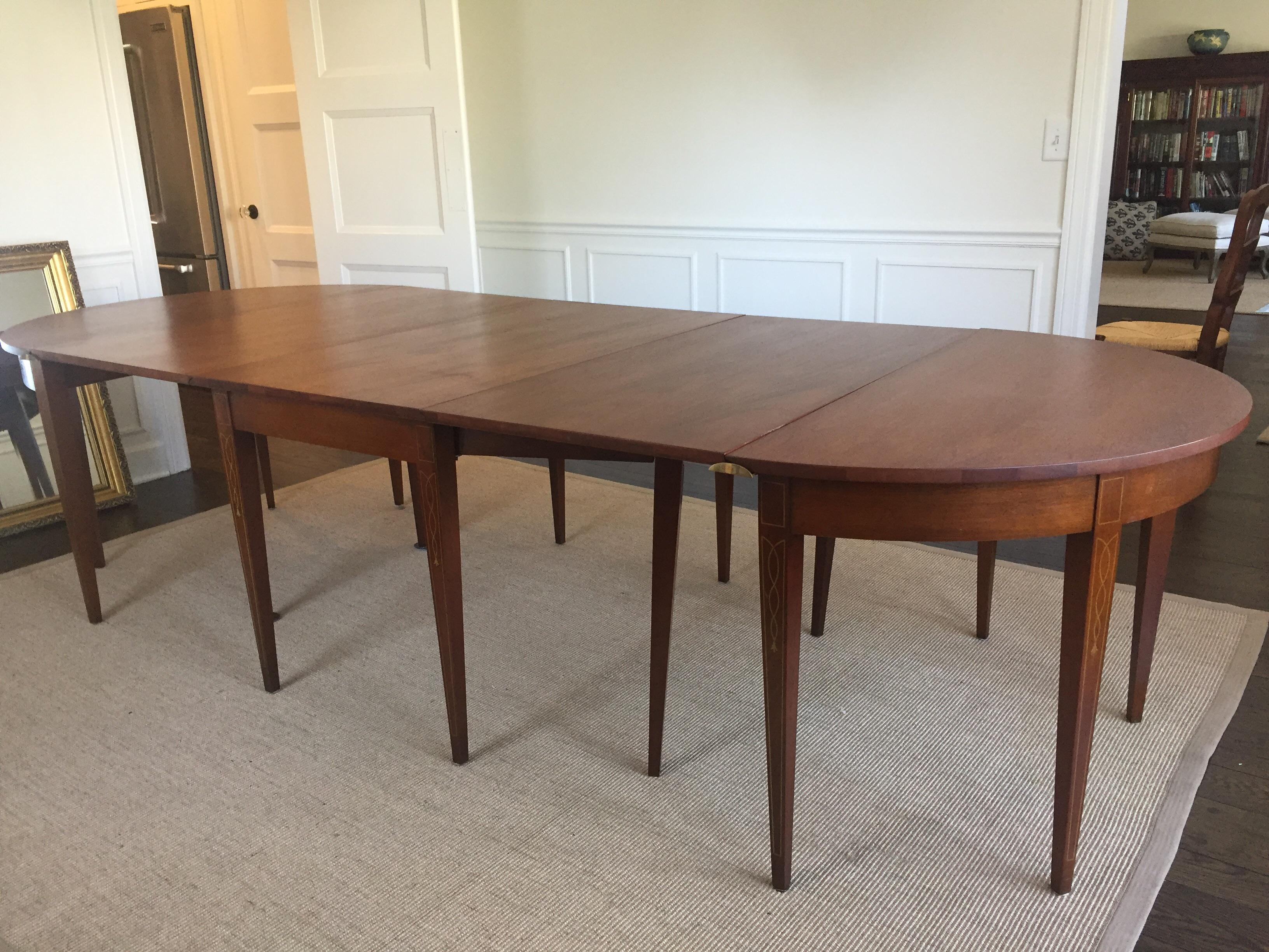 vintage mahogany expandable dining room table chairish