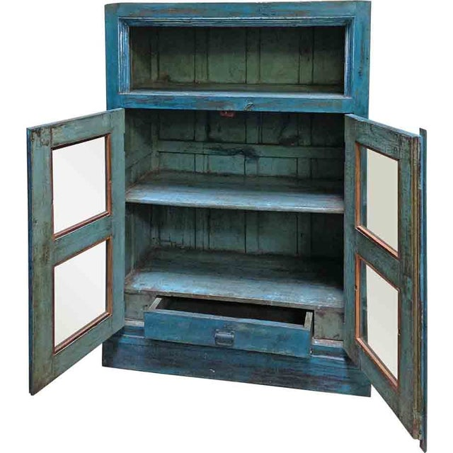 Turquoise Display Cabinet - Image 2 of 2
