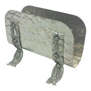 Hammered Aluminum Napkin Holder