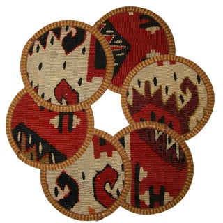 Kilim Coasters Set of 6 - Uluabat