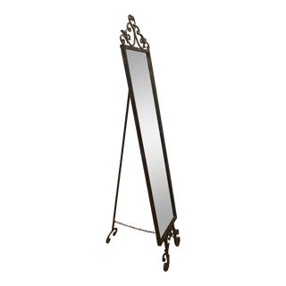 Antique Iron & Brass Easel Mirror