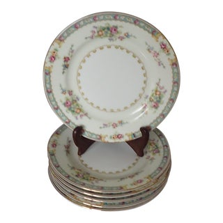 Cottage Style Floral Bread Plates S/6