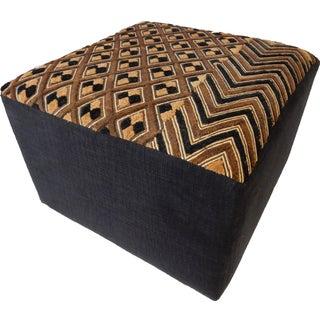 Kasai Velvet Kuba Textile Ottoman