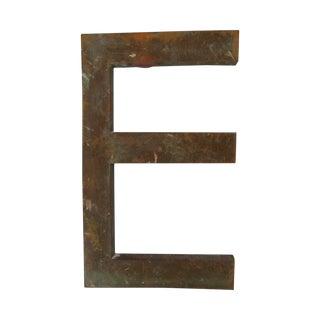 Vintage Bronze Letter E - Medium