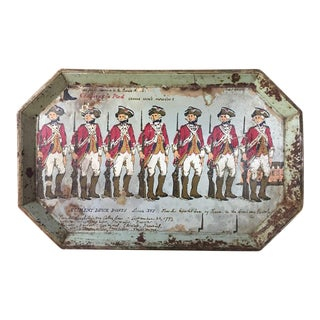 Shabby Chic Metal Tray - French Revolutionary Soldiers