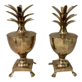 Hollywood Regency Pineapple Catchalls - A Pair