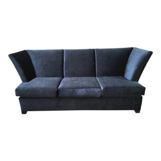 Contemporary Royal Blue Velvet Sofa by Gramercy Donghia