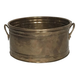 2 Handled Brass Planter Pot